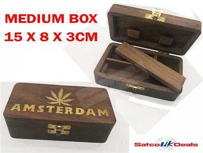 Wooden Tobacco Cigarette Box Smoking Rolling Grassleaf Roll Snuff XMAS GIFT NEW2
