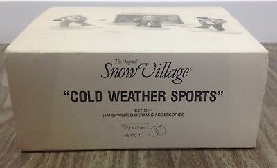 Snow Village Cold Weather Sports Hockey Scene by Department 56