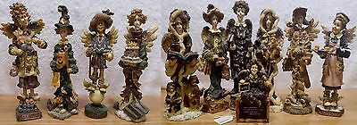 Adorable 11 Piece Guardian Angel Lot Boyd Bears & Friends Folkstone Collectibles