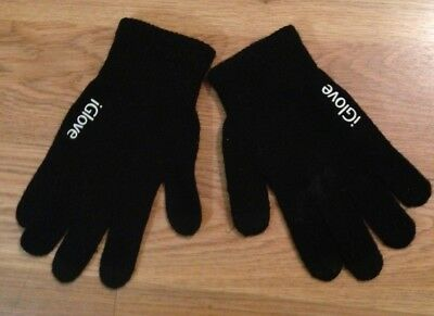iGlove Unisex Black Gloves, touch screen
