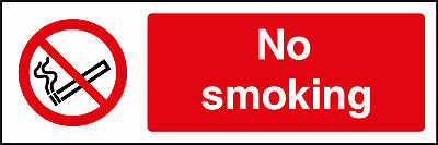 No Smoking Signs - plastic & sticker options