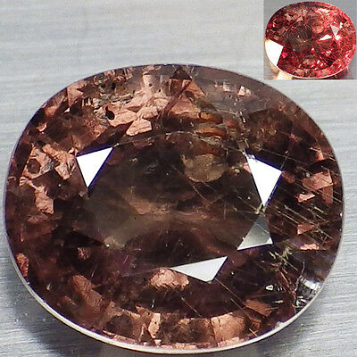 3.80 Ct. RARE Unheated Natural Oval Color Change Malaya Garnet  Loose Gemstone