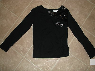 Pastry Girls Black L/S Fashion Top - Size 5 - NWT $34