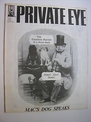 PRIVATE EYE 1964 26 June No 66 The Common Market Is A Dead Duck, Ralph Steadman