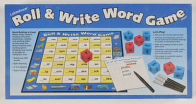 Lakeshore Roll & Write Word Game RR 207 Brand New Educational