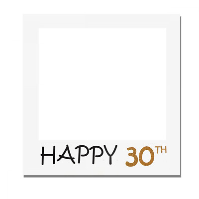 1 Piece Large Size Happy 30th Birthday Party Props Photo Booth Frame Only by Tri