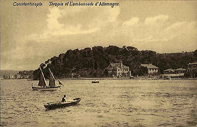 Constantinople Istanbul Türkei AK ~1910 Terapia et L'ambassade d'Allemagne Boote
