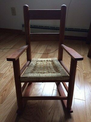Local pick up only!  Children's caned wood rocking chair