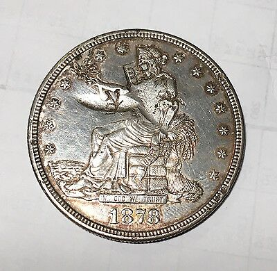 1878-S Trade Silver Dollar AU Details Chopmarked In China