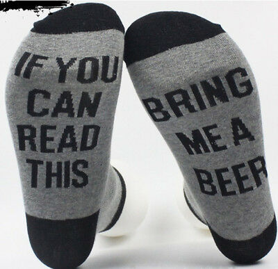 IF YOU CAN READ THIS BRING ME A BEER Men and Women Socks Cotton Socks