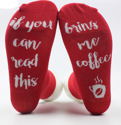 IF YOU CAN READ THIS BRING ME COFFEE Men and Women Socks Cotton Socks