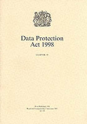 Data Protection Act, 1998 by Great Britain (Paperback, 1998)