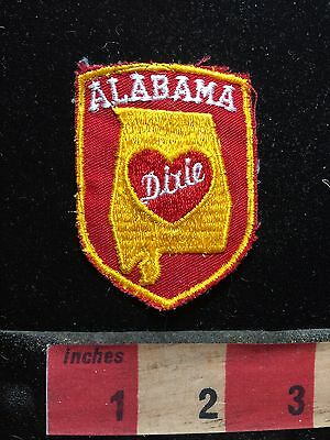 Alabama Patch (Yellow Border Version) - Heart Of Dixie ~ Southern USA C76L