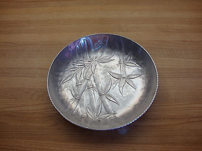 Vintage Everlast Forged Aluminum Serving Bowl With Bamboo Design