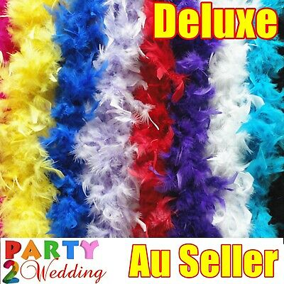 2M Feather Boa Stripe Fluffy Craft Costume Dress Up Wedding Party Flower Decor