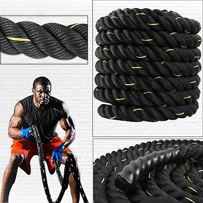 Battle Rope 40mm Training Battling Sport Exercise Fitness Powergym BOOTCAMP 30ft