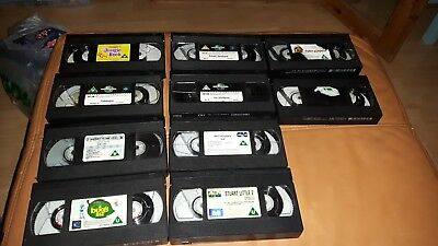 10 Loose Various VHS Tapes - Disney - Dreamworks - Kids/Childrens Films