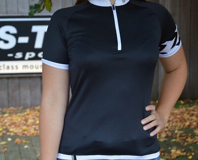 Liv Radiant Jersey Short Sleeve Black/White Breathable Ladies/Woman %%SALE%%