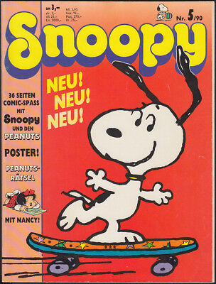 Snoopy Heft Nr. 5 + Poster (Softcover, Bavaria Comic 1. Auflage 1990) Z 2+