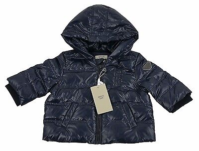 Armani Baby Blue QUILTED BABY HOODED PUFFA COAT 6m/62cm BNWT