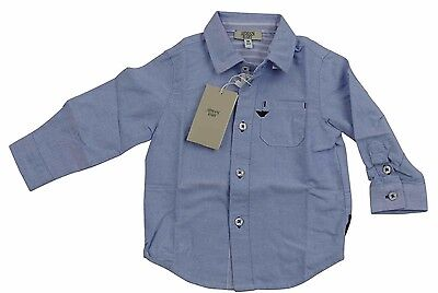 Armani Baby Boys Light Blue Shirt Sz 9 months