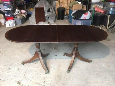 Mahogany Extendable Twin Pedestal Dining Table - Local Collection