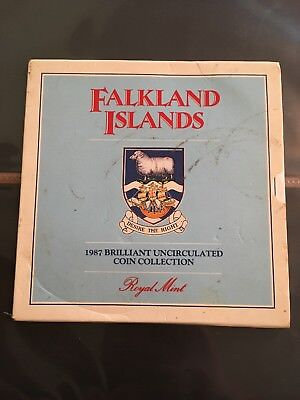 1987 Falkland Islands Brilliant Uncirculated Coin Set