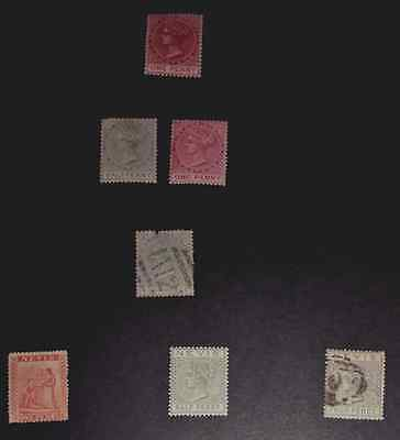 Mint & Used Nevis 1870-1890. 7 Stamps.