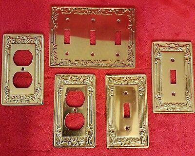 Vintage Solid Brass Gatco switch and outlet covers