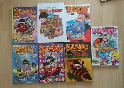 7 beano / dandy books, including sixty years beano and the dandy focus of the50s