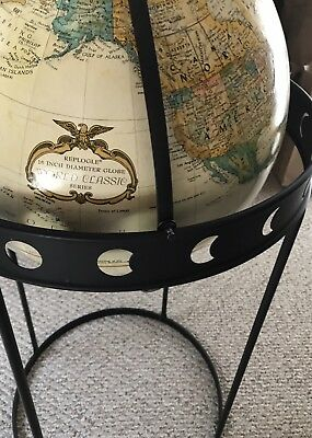 Vintage Replogle 16in globe with Eclipse floor stand