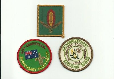 SCOUT AUSTRALIA BURPENGARY QUEENSLAND 3 PATCHES MURRUMBA GROUP ANNIVERSARY 1990s