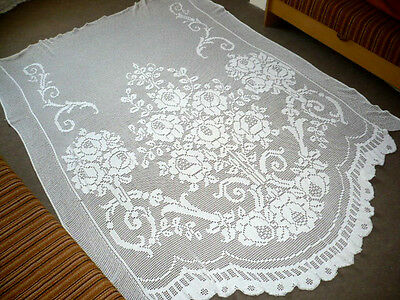 Beautiful Antique LACE CURTAIN