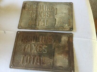 Two Gasoline Taxes License Plates