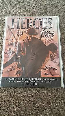 Marvel Heroes 9/11 Signed Comic