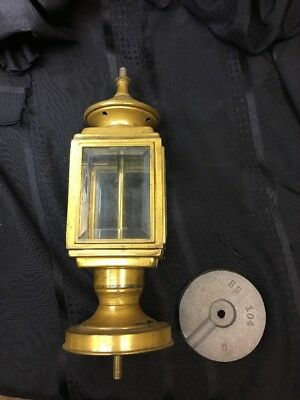 Vintage Used Old Metal Brass Lantern Lamp Antique