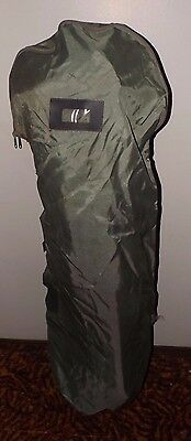 Clean Durable Grey Nylon Golf Bag Cover  Lockable if Required - Great for Travel