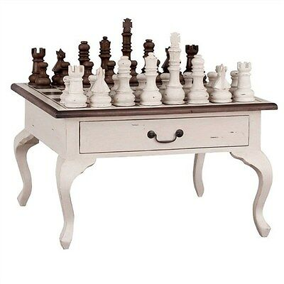 Rivoli Chess Table Set - Solid Mahogany