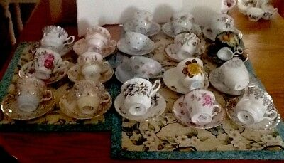 Vintage Mixed Lot Of 18 Bone China,Fine Tea Cups and Saucers