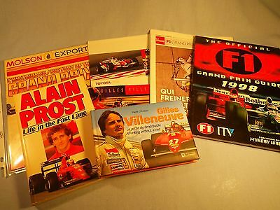 Formula 1 Collection Books Stamps Calendar Gilles Villeneuve & Alain Prost Book+
