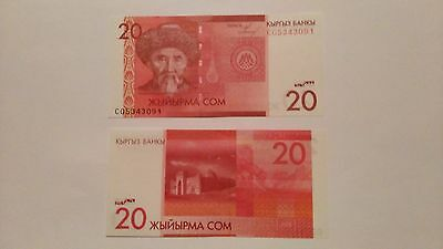 Kyrgyzstan 20 Som ND (2009) P-24  ( S/C )