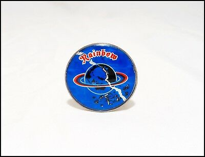 Rainbow Vintage 80's Prism Reflective Pin DIO Ritchie Blackmore