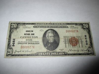 $20 1929 Cannelton Indiana IN National Currency Bank Note Bill! Ch. #9682 Fine!
