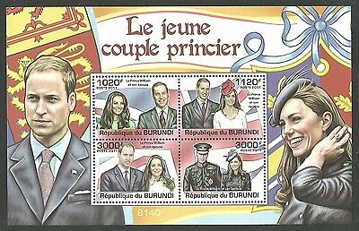 Burundi 2011 Royalty Royal Wedding William & Kate M/sheet Mnh