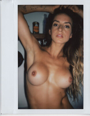 OOAK Original Instax Wide Polaroid Photo - Nude Naked Woman Brunette Glamour