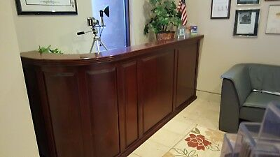 Reception Desk -Impressive and Gorgeous Mahogany. Custom one-of-a-kind. Must go!