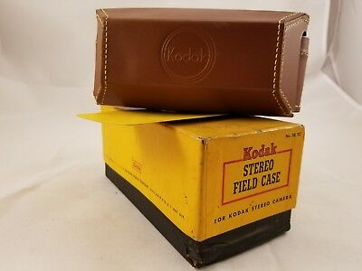 Vintage Kodak Stereo Field Camera Leather Case No.28 FC with Original Box NOS