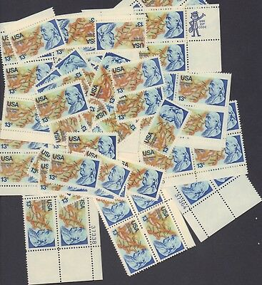 {BJ Stamps} 1690  Benjamin Franklin. 100 Unused 13 Cent stamps.  Issued in 1976.