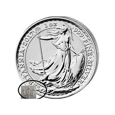5 x 1oz silver britannia 2017in capsule  - 20th anniversary - only 120000 minted