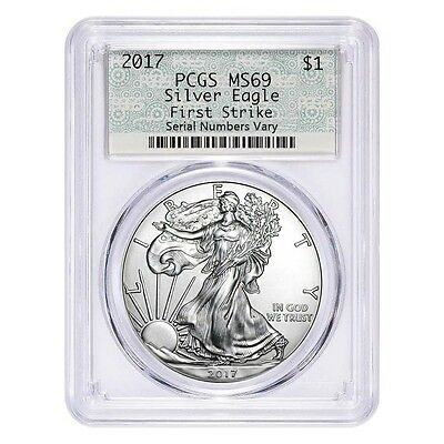 2017 1 oz Silver American Eagle $1 Coin PCGS MS 69 First Strike (Doily)